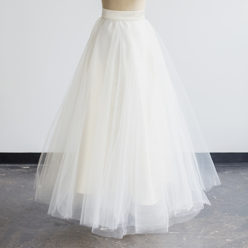 Full Tulle Skirt Gown in Ivory