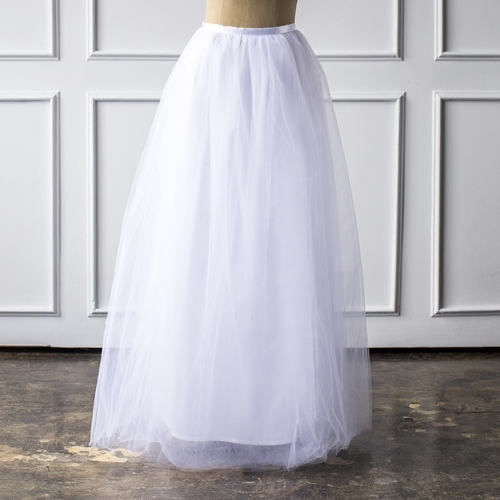 Women's Maxi Tulle Skirt in White