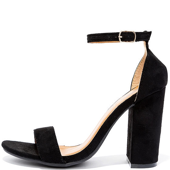 Lulu's Suede Black Pumps