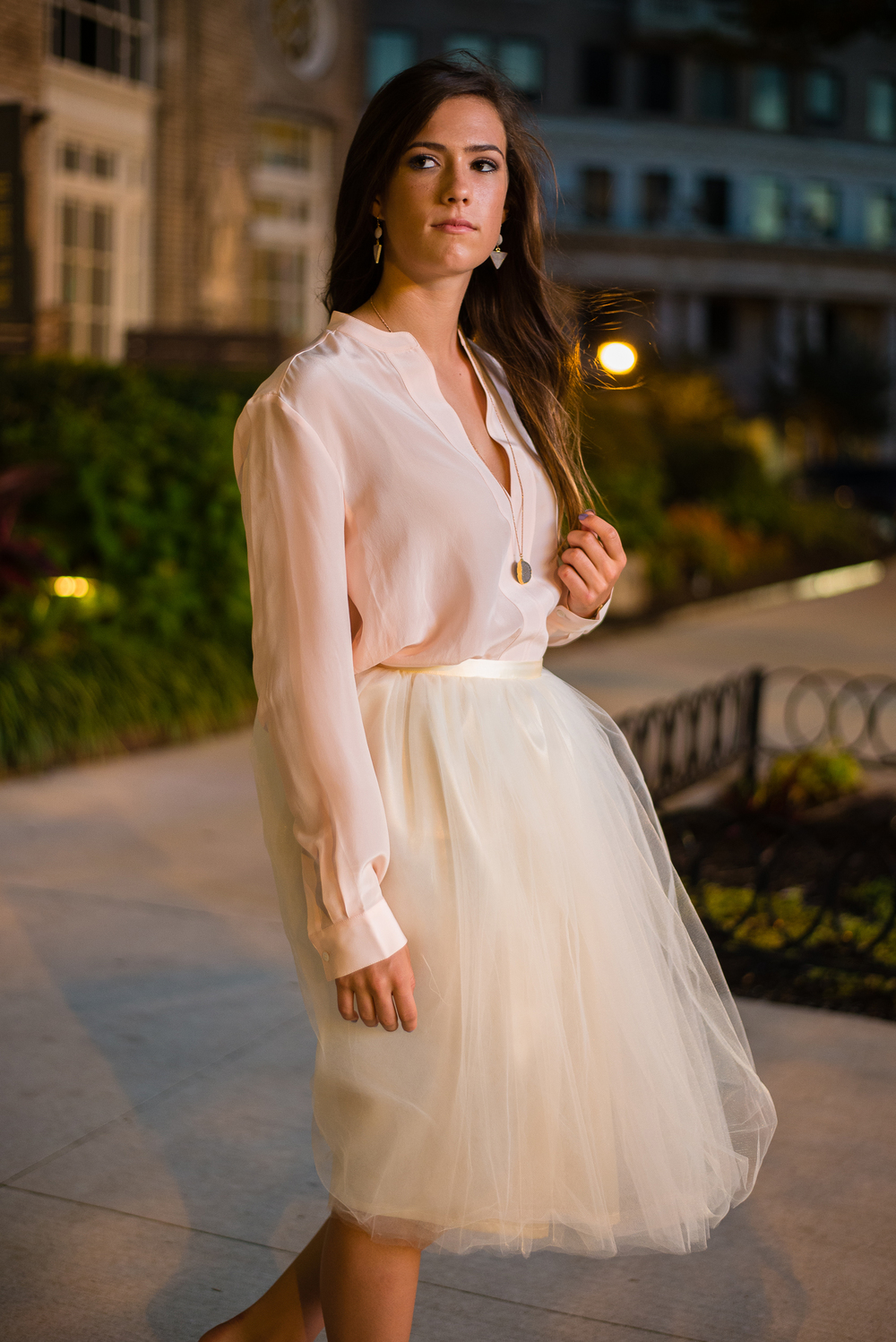 Signature Tulle Skirt in Ivory
