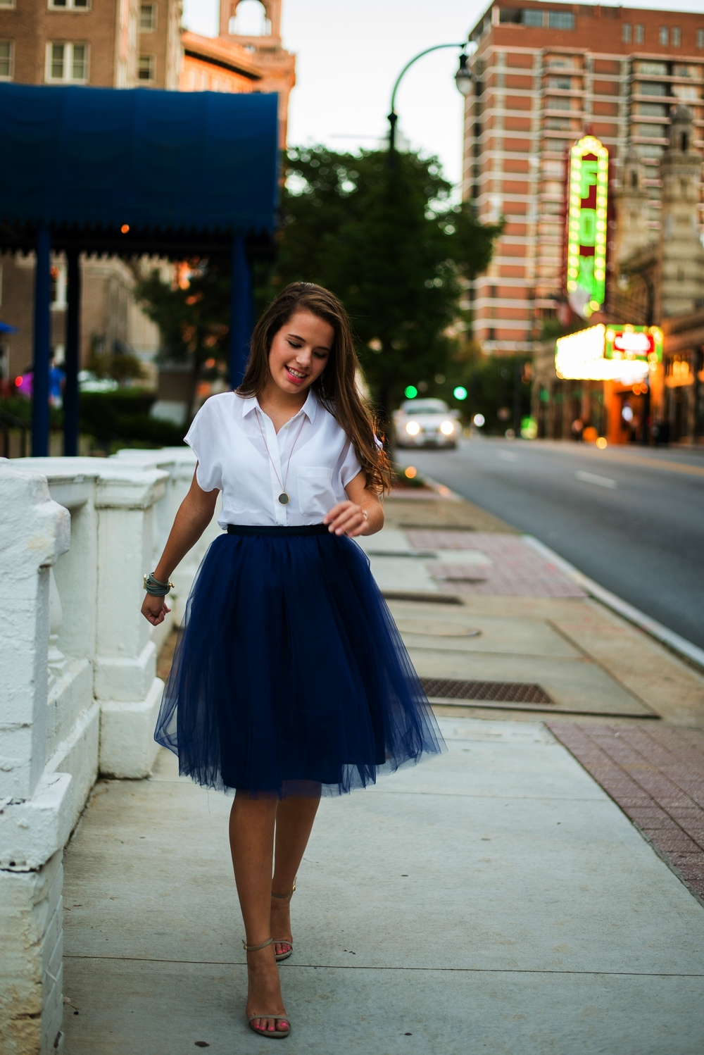 Signature Tulle Skirt in Navy