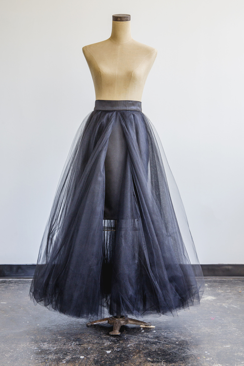 Full Length Tulle Skirt in Black