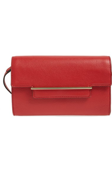 """Aster"" Red Clutch"