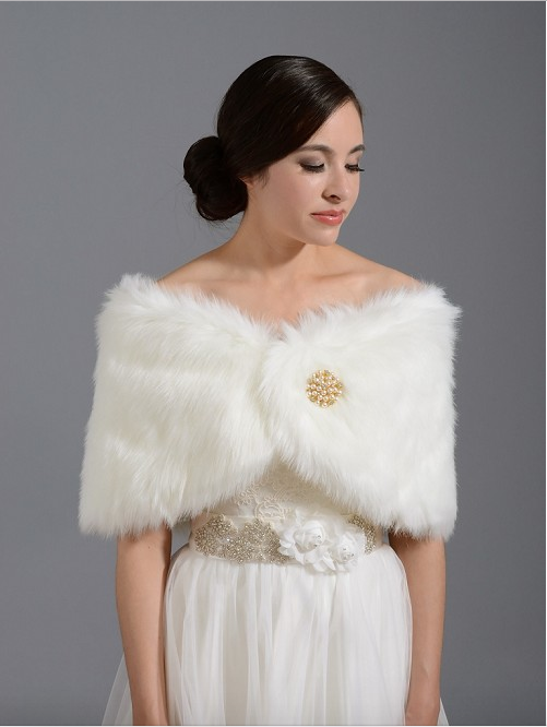 Tulip Bridal FAUX FUR WRAP BRIDAL STOLE SHAWL