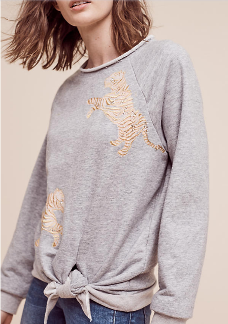 Tiger Pullover, Anthropologie