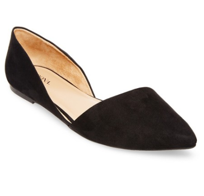Women's Poppy d'Orsay Pointed Toe Ballet Flats - Merona