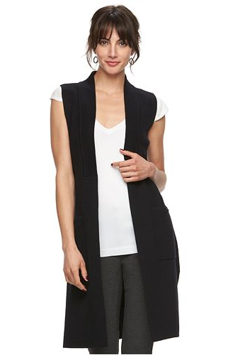 Elle Long Sweater Vest