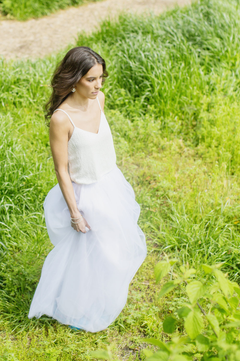 Maxi Tulle Skirt in White, Tutu Moi