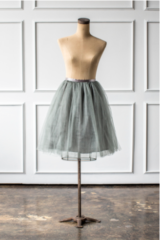 Signature Tulle Skirt in Silver