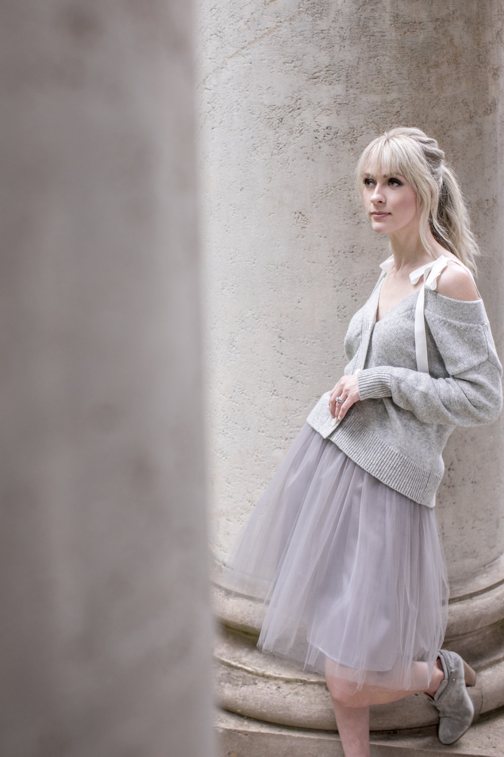 Tutu Moi, Signature Tulle Skirt in Grey