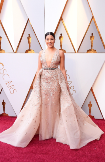 Gina Rodriguez in Zuhair Murad Couture, Vogue.com