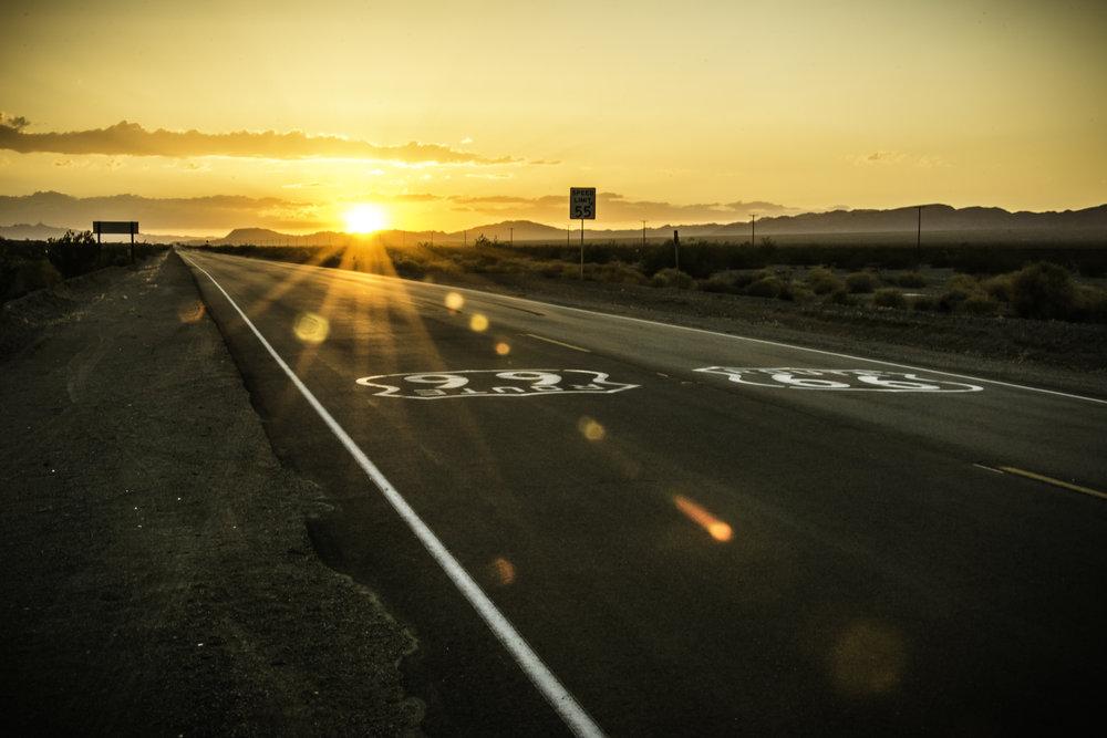 Gettin' Kicks, I suppose... - Route 66, (somewhere in) AZ
