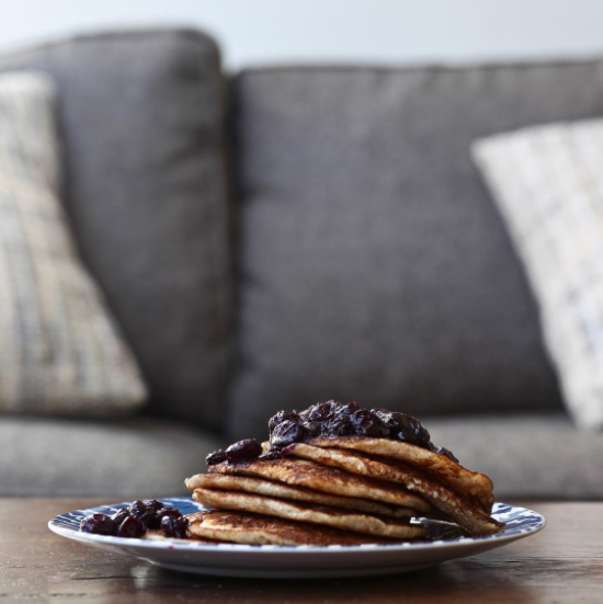 Smoked Blueberry <Br> Cornmeal Pancakes