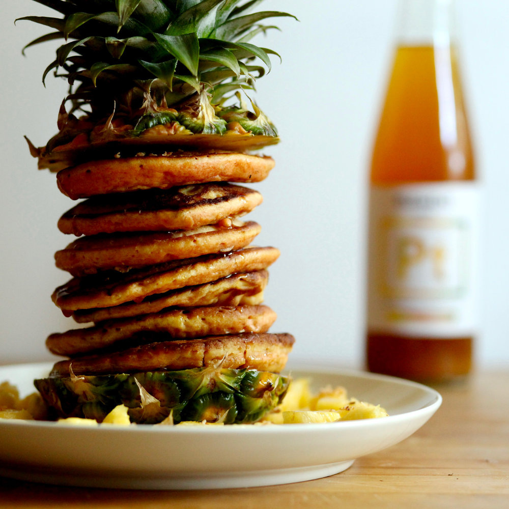Pineapple Turmeric Pancakes