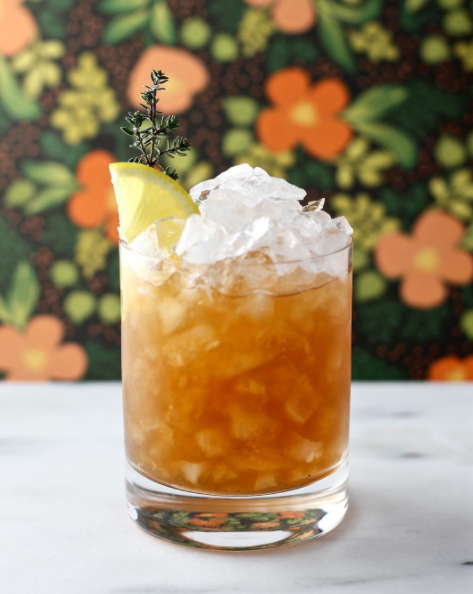 Chai Pear Shrub Swizzle