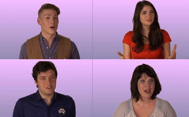 Click the pic above to hear the cast of First Date offer some dating tips (featuring some insanity by yours truly).