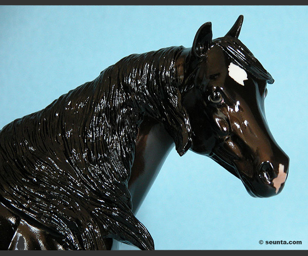 2006 Stone Horses : Glossy : Windswept : only 15 made : COA