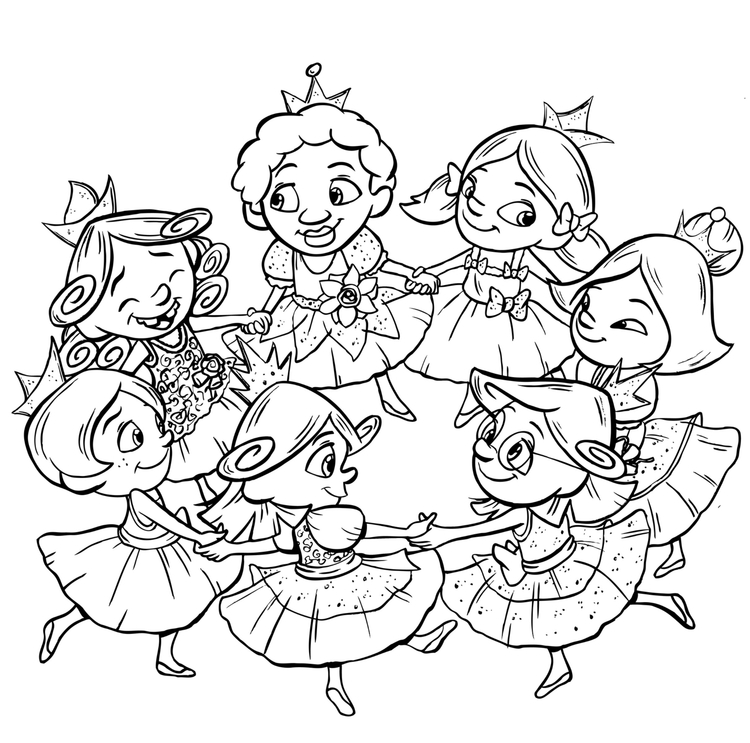 Little Princess Coloring Pages To Print : Coloring pages little princess mermaid