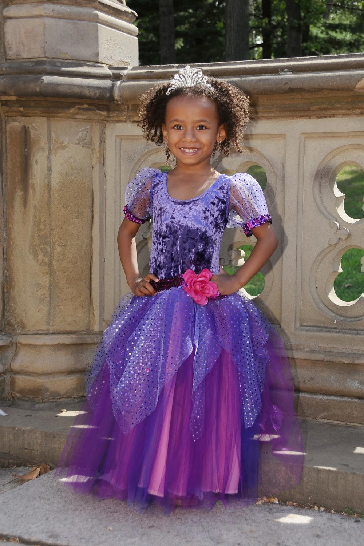 Little Princess Palace Fiction Peplum Dress Purple