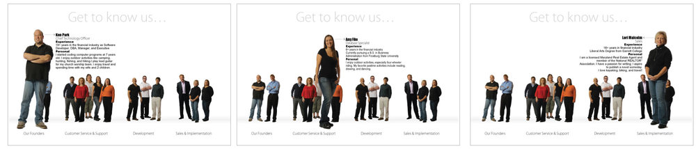 AssetBook Employee Photos [fish-eye effect, bio and figure pop up]