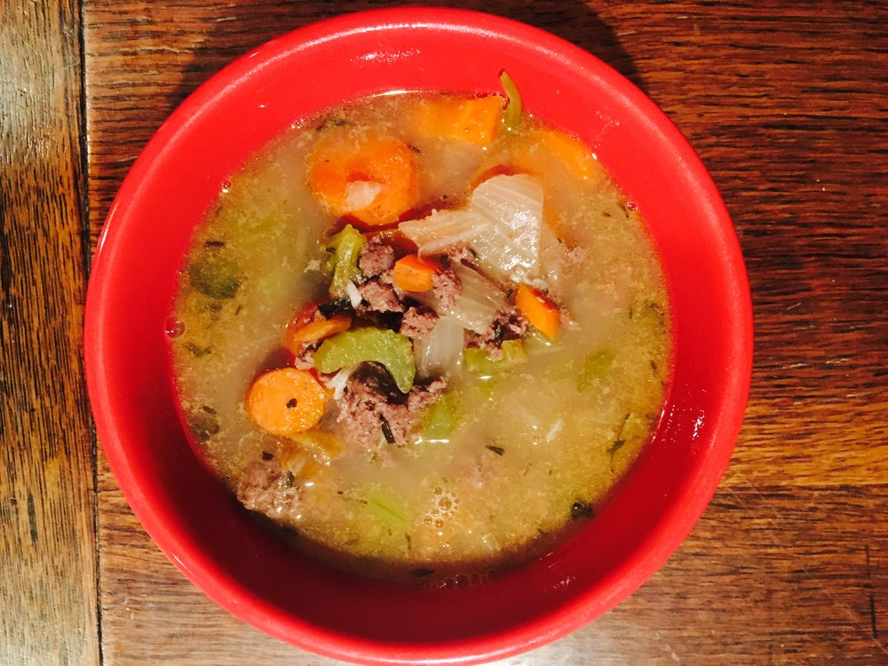Rich healthy fat Golden Bear Soup