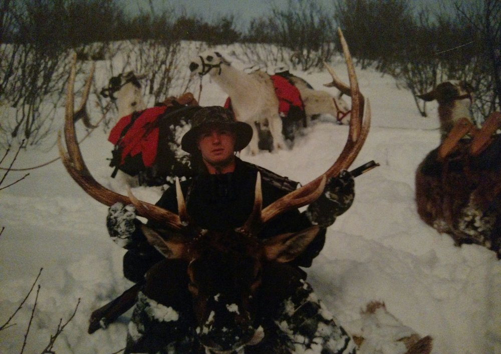 Elk hunting Idaho, early 1990s.
