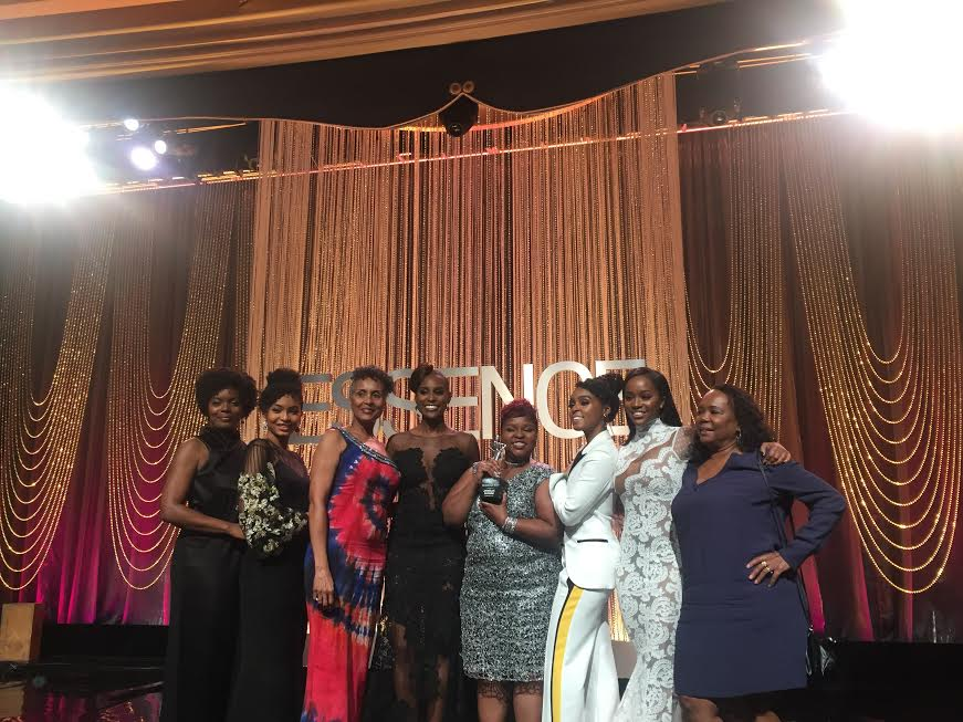 Essence Black Women In Hollywood Gala, winners with their momma's