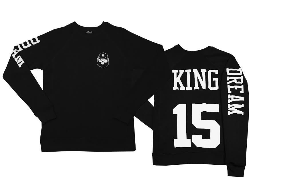 Black Santa Dream King Sweatshirt