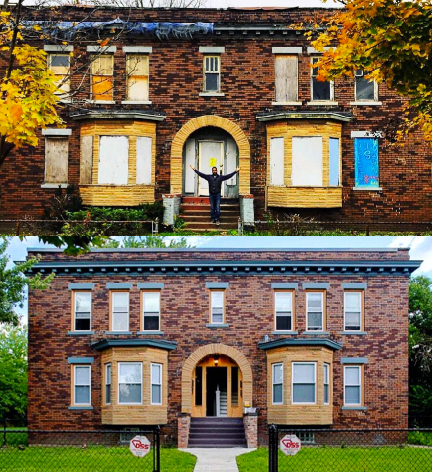 Revolutionize Detroit Project before and after