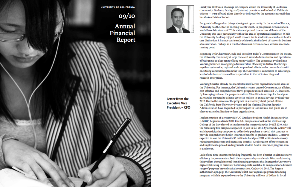 Letter from the CFO (2010).