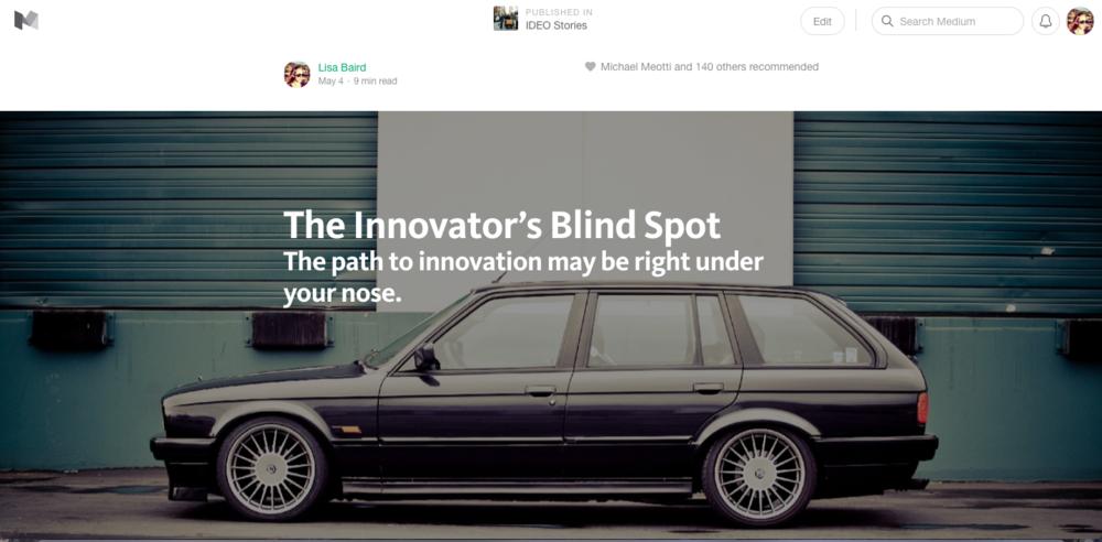 Medium post on business model innovation.