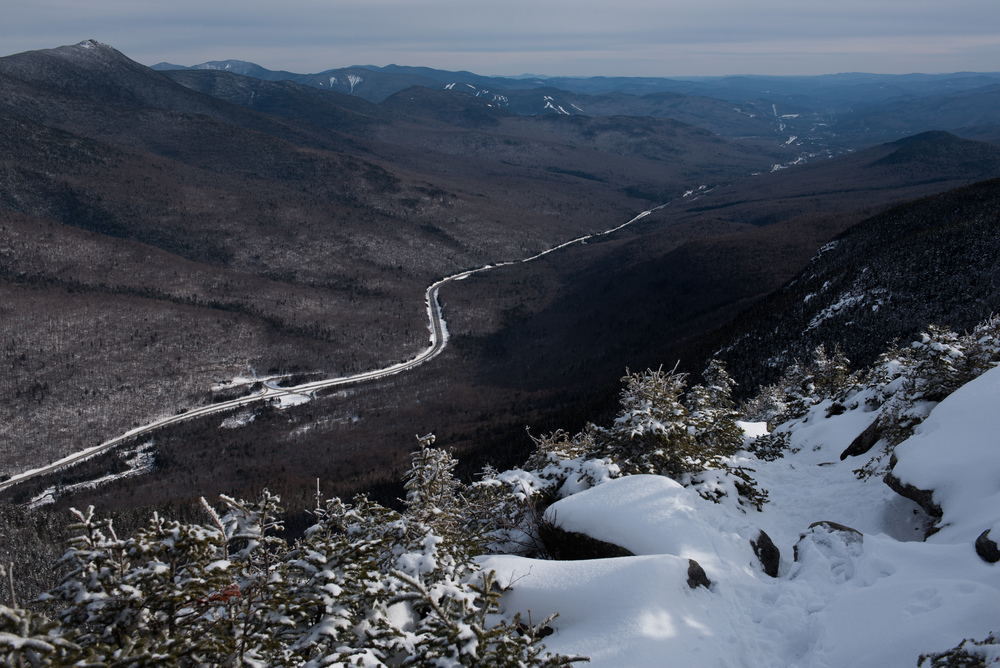 A view from the summit of Cannon Mountain on Saturday, Mar. 5, 2016.