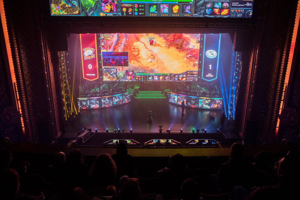12/9/16 – Boston, MA – Virtus.Pro and Evil Geniuses compete during the DOTA 2 Boston Major competition in the Wang Theater in Boston, Mass., on Friday, Dec. 9, 2016. (Photo by Nicholas Pfosi)