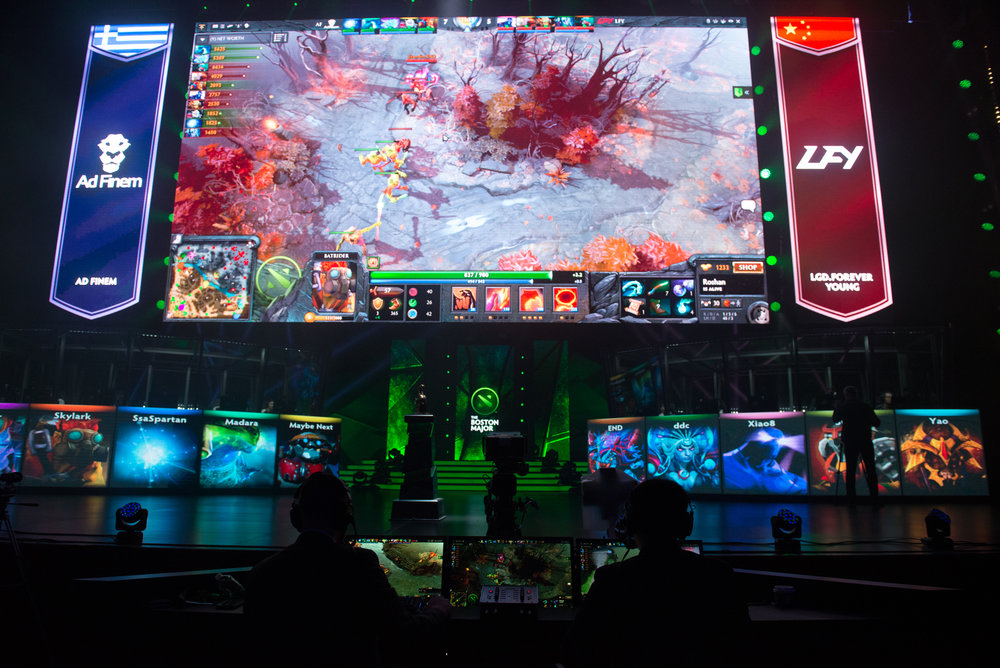 12/9/16 – Boston, MA – The DOTA 2 Boston Major competition in the Wang Theater in Boston, Mass., on Friday, Dec. 9, 2016. (Photo by Nicholas Pfosi)