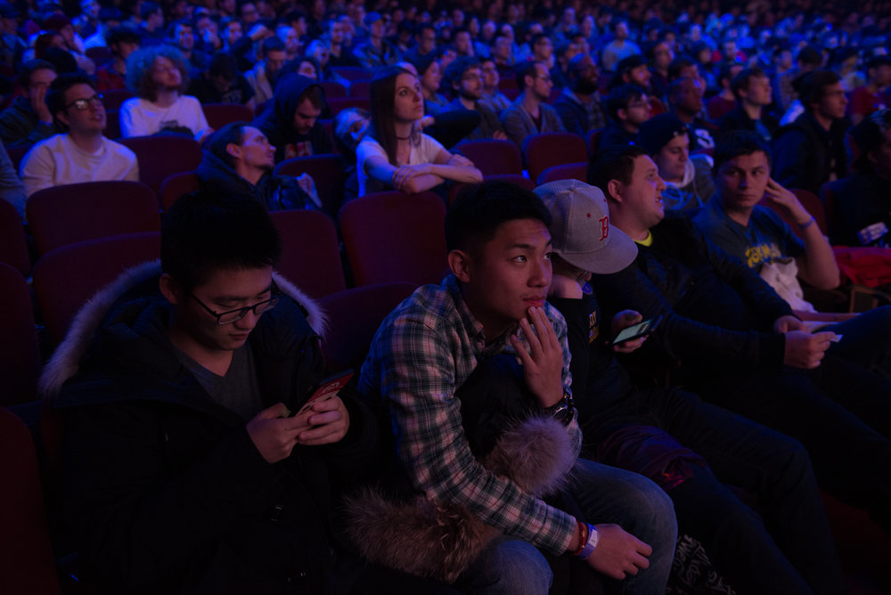 12/9/16 – Boston, MA – Terrence Tian of New York City looks on during the DOTA 2 Boston Major competition in the Wang Theater in Boston, Mass., on Friday, Dec. 9, 2016. (Photo by Nicholas Pfosi)