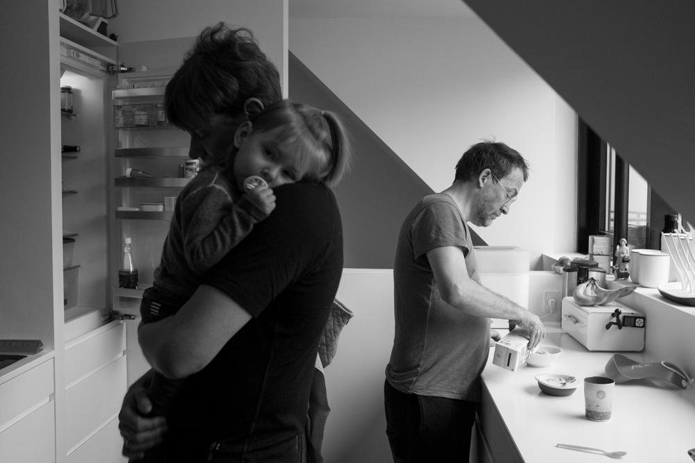 3/6/17 – Copenhagen, Hovedstaden – Martin and Dan take care of Ellen, 2, in their home in Copenhagen on Monday, Mar. 6, 2017. (Photo by Nicholas Pfosi)
