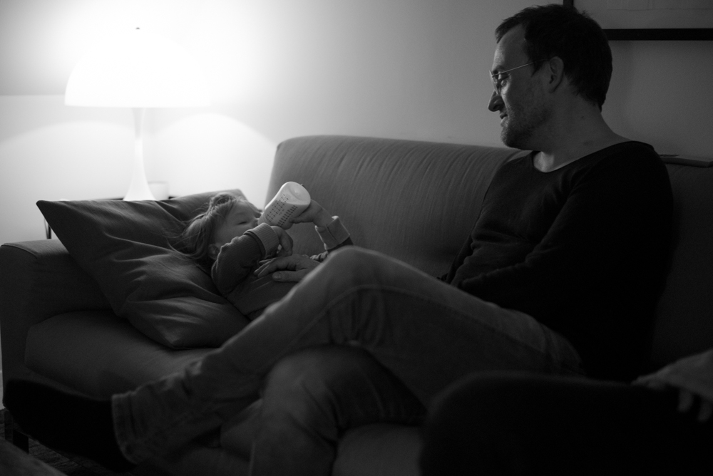 3/1/17 – Copenhagen, Hovedstaden – Martin Münter and his husband Dan Bro eat dinner with their daughter Ellen on her second birthday and their third wedding anniversary in their home on Wednesday, Mar. 1, 2017. While living in a liberal country, Martin and Dan explain that when it comes to family and family planning Denmark can be more traditional than other parts of the Western world. (Photo by Nicholas Pfosi)