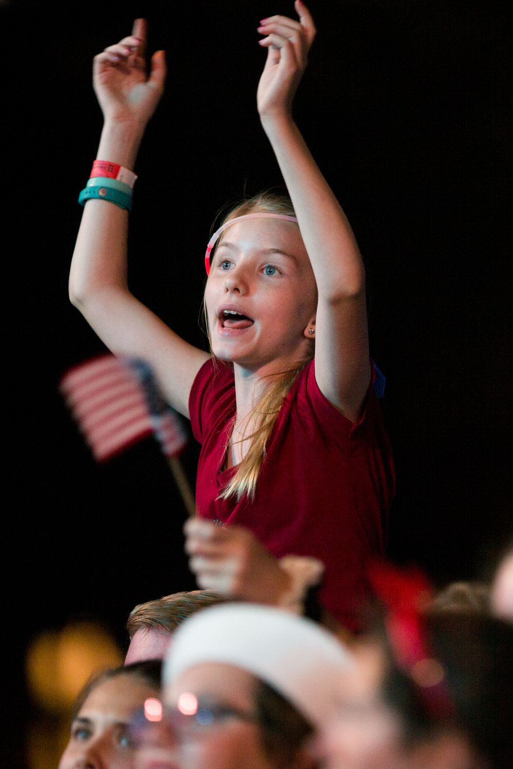 Boston, MA - 7/4/17 - A fan cheers during the Fourth of July Pops celebration on the Esplanade on Tuesday, July 4, 2017. (Nicholas Pfosi for The Boston Globe) Topic: 05IndepenceDaypic