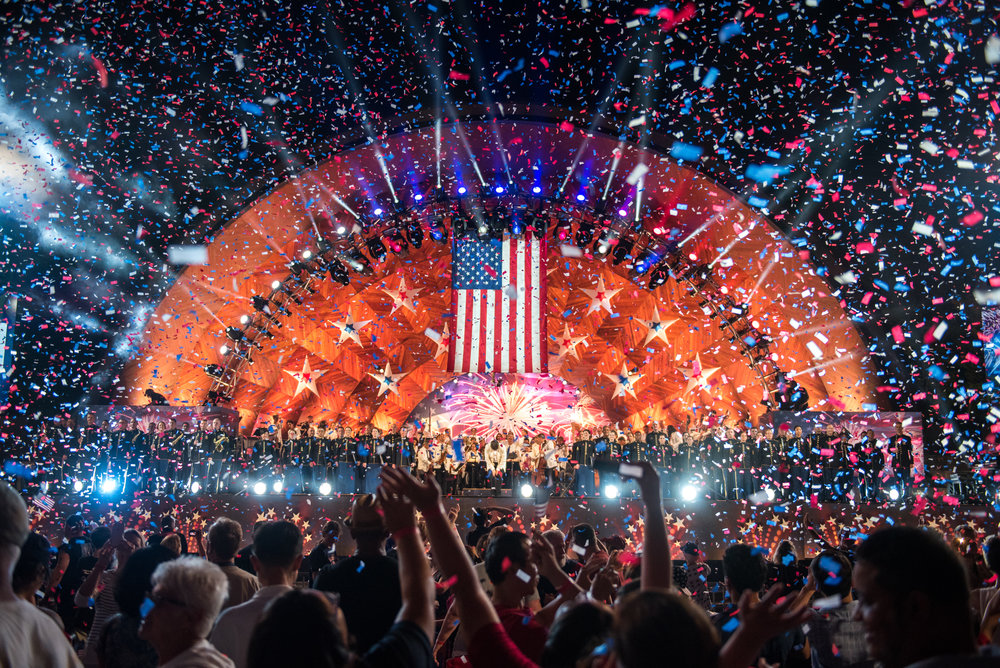 Boston, MA - 7/4/17 - The finale during the Fourth of July Pops celebration on the Esplanade on Tuesday, July 4, 2017. (Nicholas Pfosi for The Boston Globe) Topic: 05IndepenceDaypic