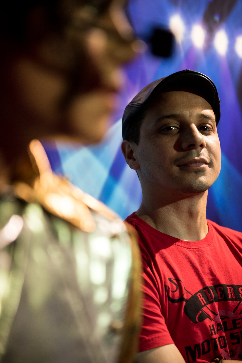 Boston, MA - 7/10/17 - Brazilian artist, Abilio Silva, poses for a portrait at the Dreamland Wax Museum in downtown Boston on Monday, July 10, 2017. The Dreamland Wax Museum is slated to open up at the end of the month and finishing touches are being put on the over 100 wax figures while staging is set around the building. (Nicholas Pfosi for The Boston Globe) Reporter: Bethany Ao Topic: 23waxmuseum(3)