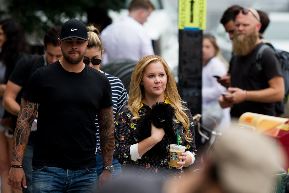 Boston, MA - 8/7/17 - Amy Schumer on the set of a new movie with Amy Schumer on Tremont St on Monday, August 7, 2017. (Nicholas Pfosi for The Boston Globe) Namesschumer