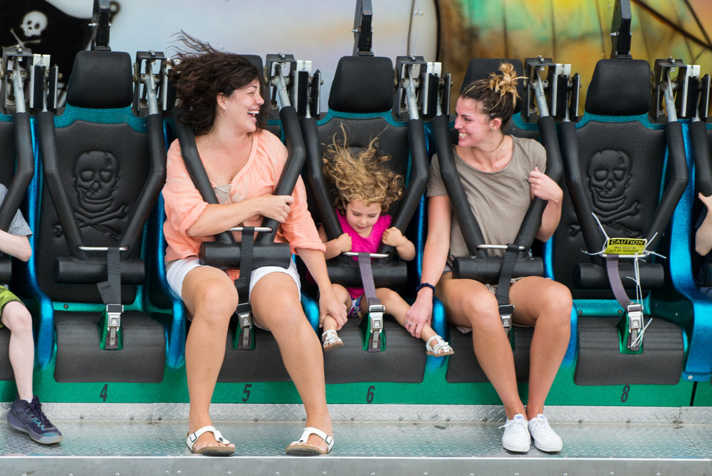 Marshfield, MA - 8/18/17 - Fairgoers yell out while riding the Seven Seas during the first day of the Marshfield Fair on Friday, August 18, 2017. (Nicholas Pfosi for The Boston Globe) Topic: 19fairpix
