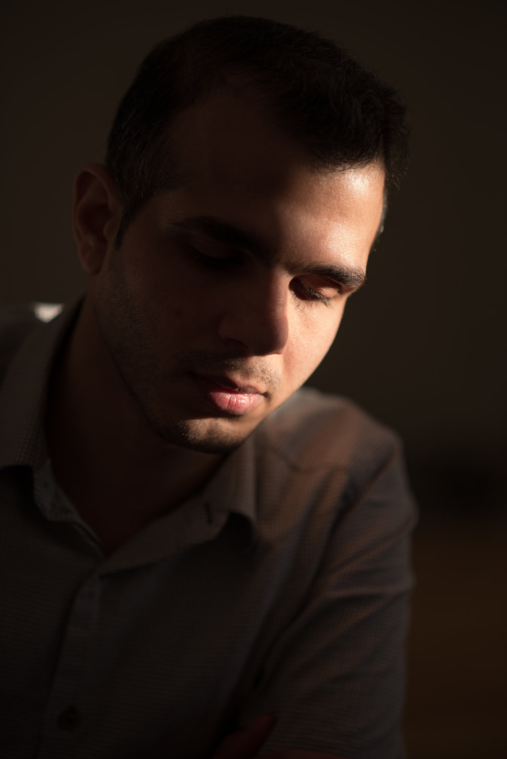 3/23/17 – Helsingborg, Sweden – Behoosh Kamaei, 30, of Iran, poses for a portrait at his apartment on Thursday, Mar. 23, 2017. Kamaei fled Iran for being gay, which is illegal there and can be punishable by death, following two separate arrests for the 'crime'. After a journey through Eastern Europe he's come to Sweden but is disappointed by the homophobic Muslim community here and as an atheist, himself, cannot understand why people cannot let others live their truths. (Photo by Nicholas Pfosi)This picture is part of a project that examines the experience of queer asylum seekers and refugees coming to Europe from homophobic countries from around the world. It aims to shed light on the added complexities caused by being LGBT while navigating a new culture and citizenship status.