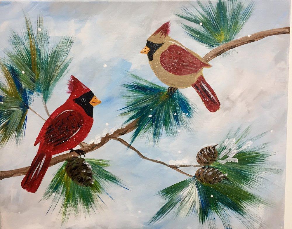 Christmas Cardinals Images.Christmas Cardinals Sip Gogh