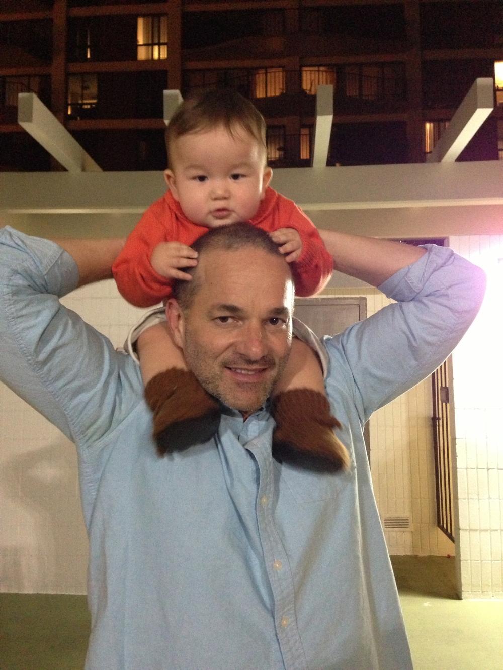 Sensei James with his son, Jett
