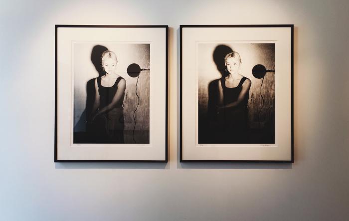 "Edie Sedgwick screen test, eyes closed & eyes open - Silkscreen - 25 x 19"" - edition of 40"