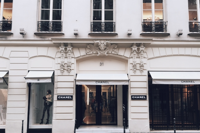 Everyone should dress up and browse brands born in Paris --hello Chanel!