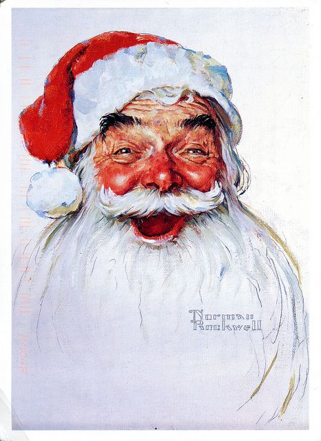 Santa Claus by Norman Rockwell for Kelloggs