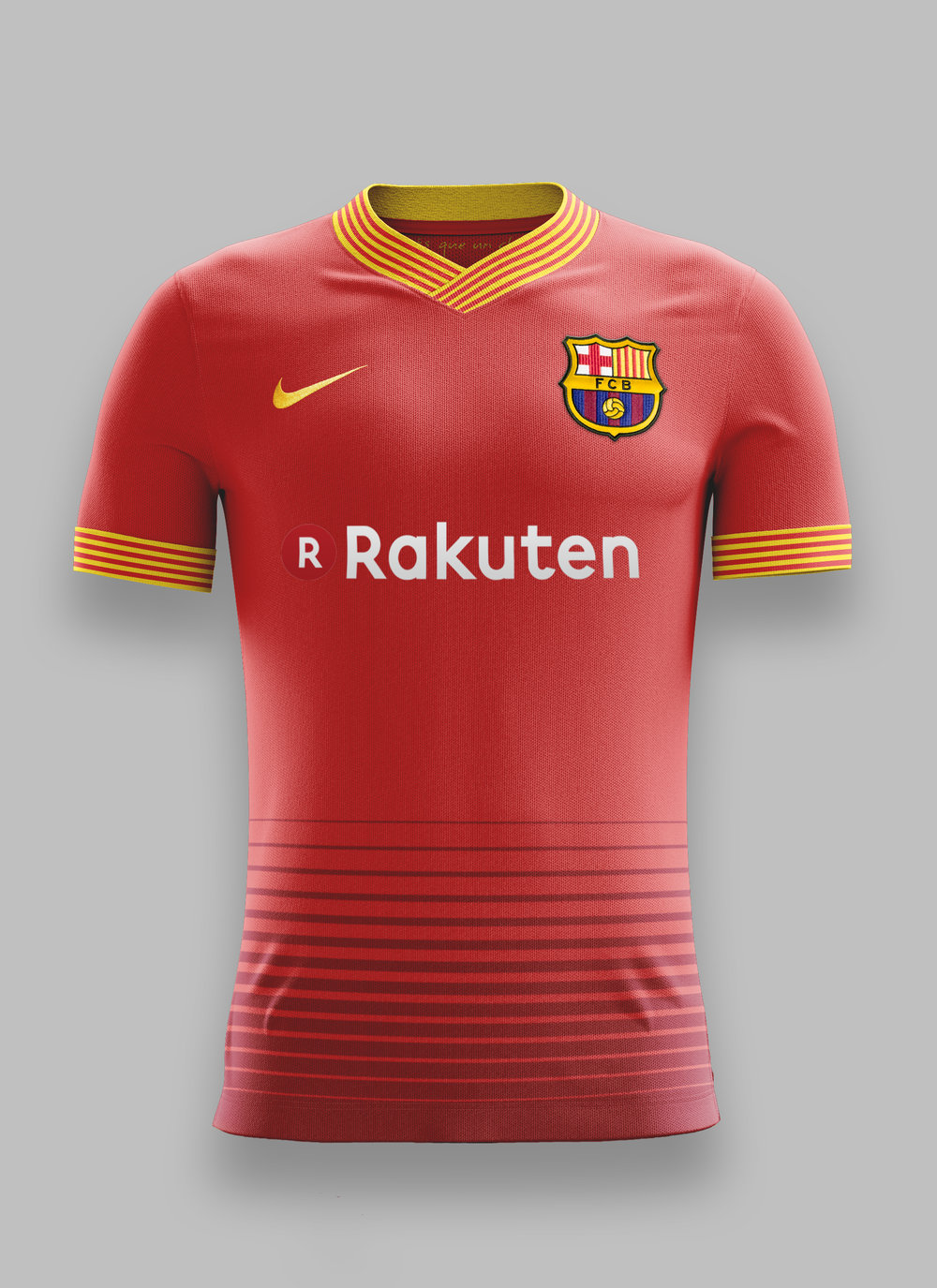 007f343778a This season s FC Barcelona away kit uses storm red from the home kit and  red inspired