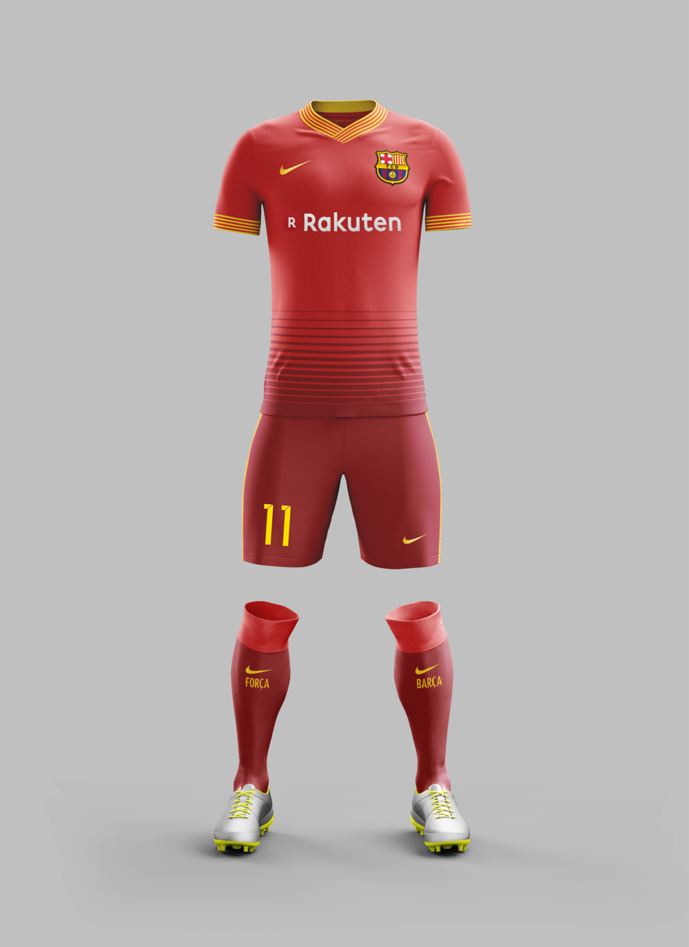 b3daa7d02 This season s FC Barcelona away kit uses storm red from the home kit and red  inspired